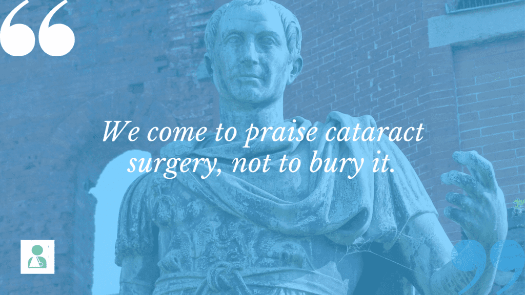 Risks of cataract surgery shouldn't scare you away from the procedure. Just know what you're getting into.
