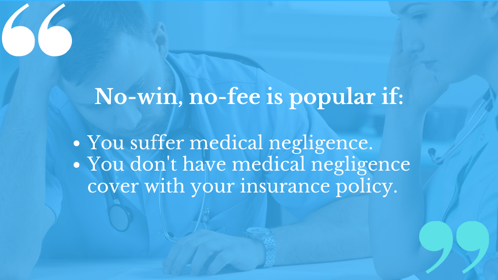 No Win No Fee Medical Negligence Compensation Claims make sense if you have no insurance cover for malpractice